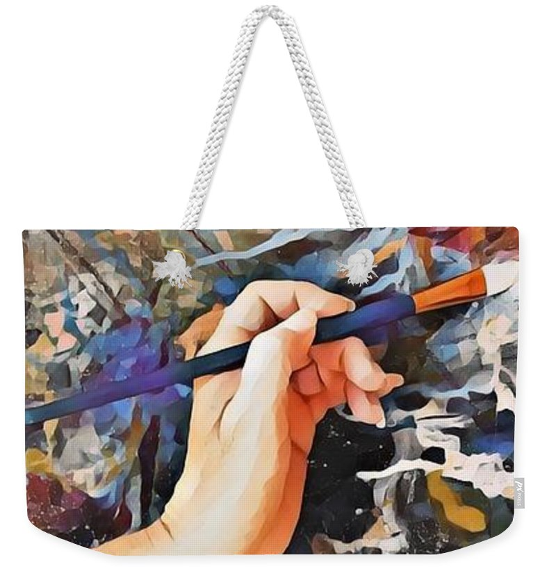 Art Weekender Tote Bag featuring the mixed media Through My Eyes by Tracy Mcdurmon