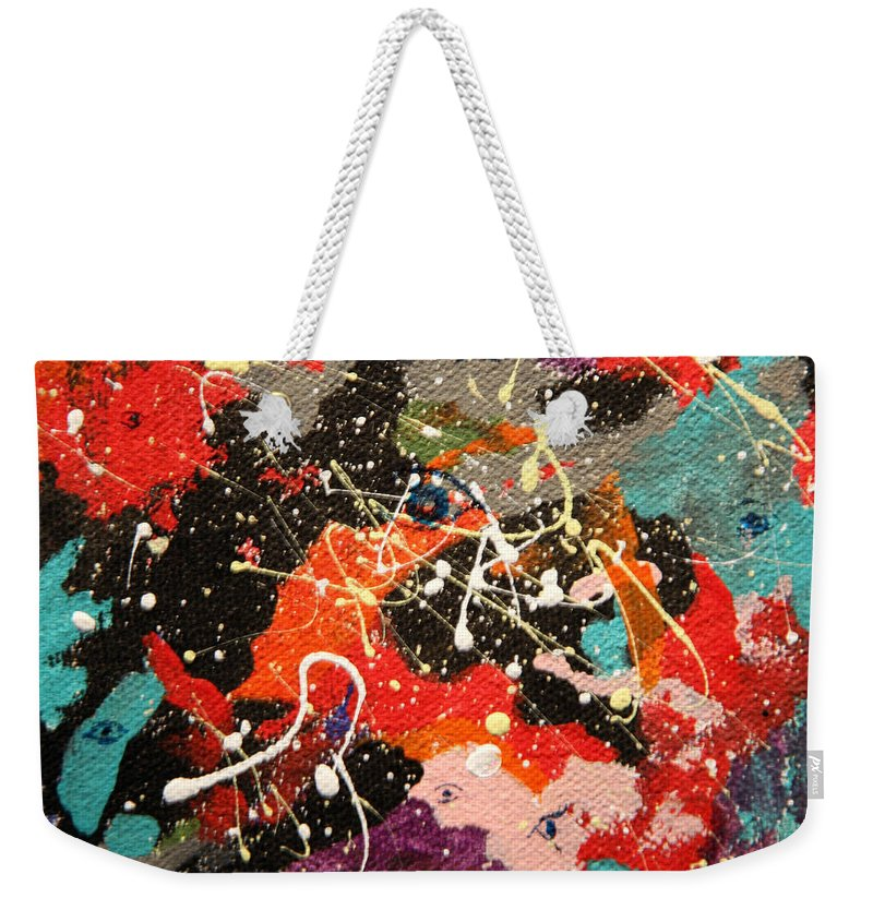 Abstract Weekender Tote Bag featuring the mixed media Through The Eyes Of The Universe by J R Seymour