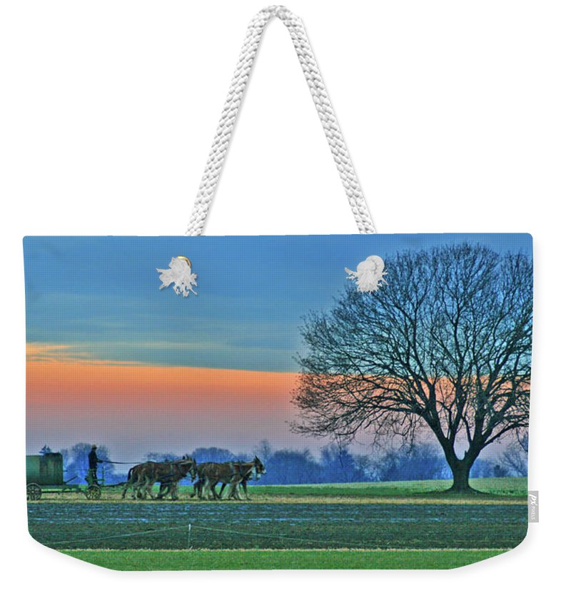 Fields Weekender Tote Bag featuring the photograph Through The Fields by Scott Mahon