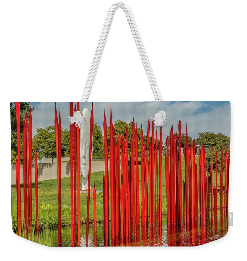 Richmond Weekender Tote Bag featuring the photograph Through The Glass Rods by Ed Tepper