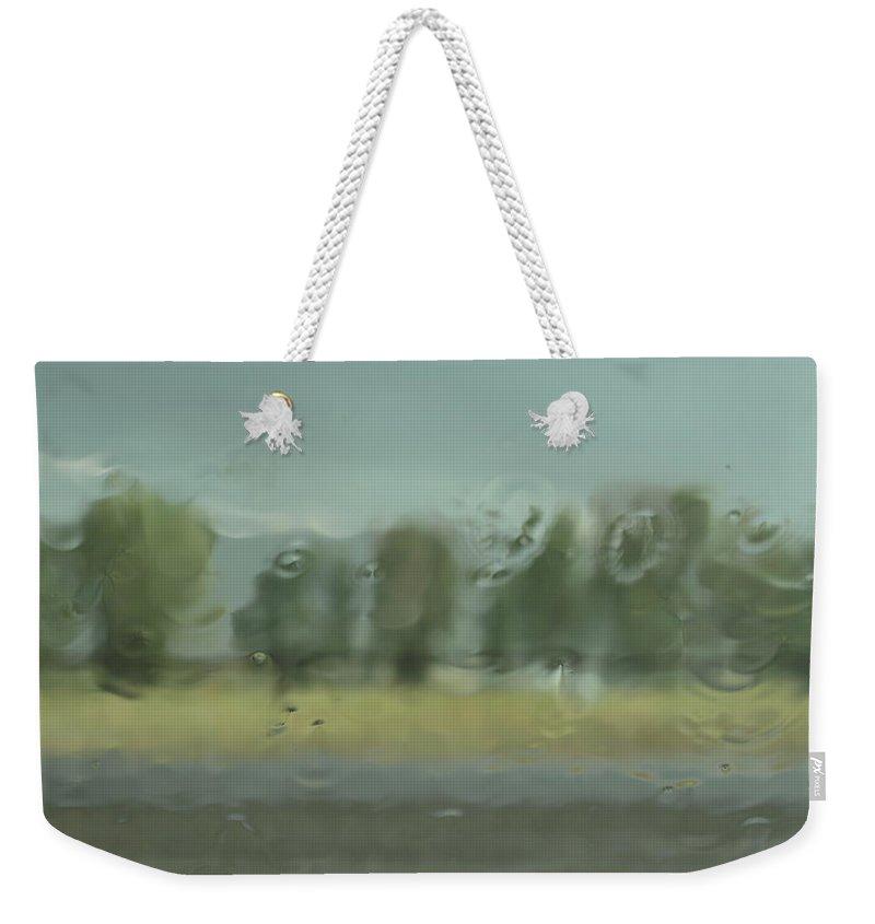 Rain Weekender Tote Bag featuring the photograph Through The Rain by DeeLon Merritt