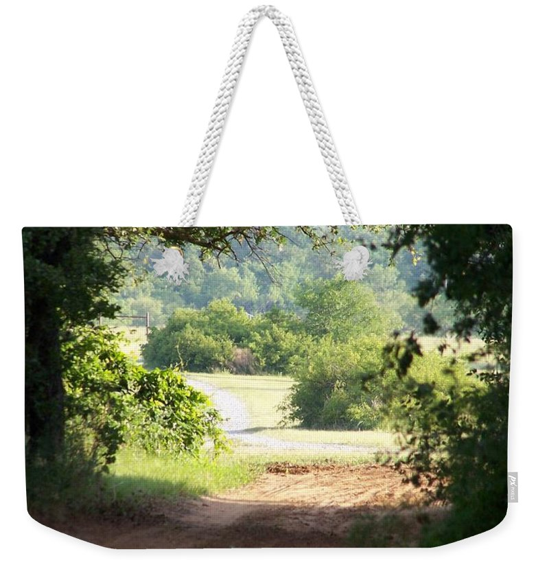 Woods Weekender Tote Bag featuring the photograph Through The Woods by Gale Cochran-Smith