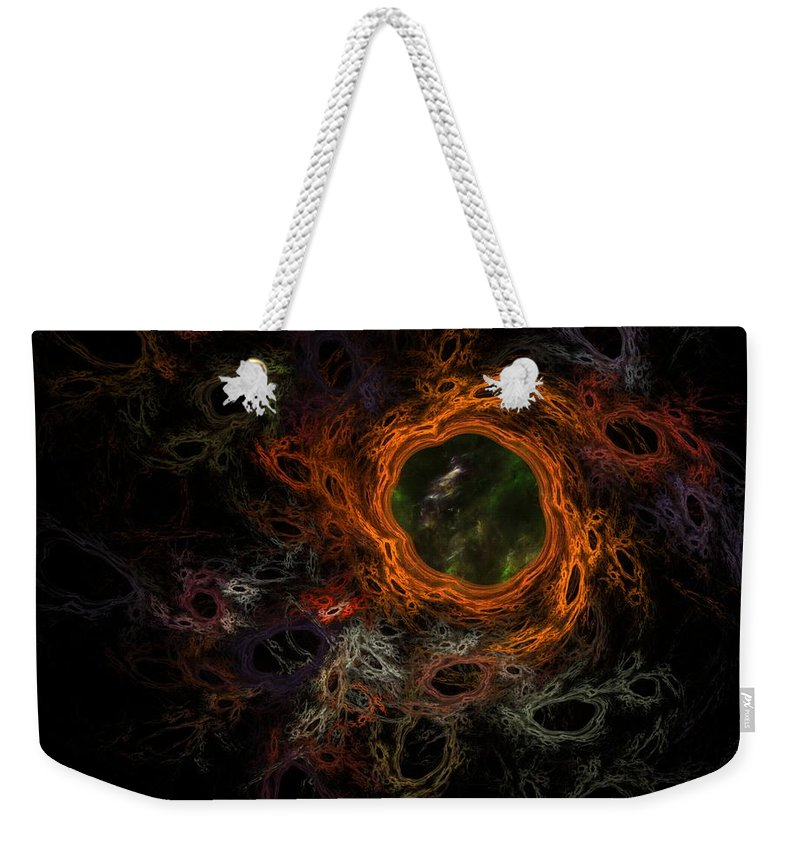 Fantasy Weekender Tote Bag featuring the digital art Through The Worm Hole by David Lane