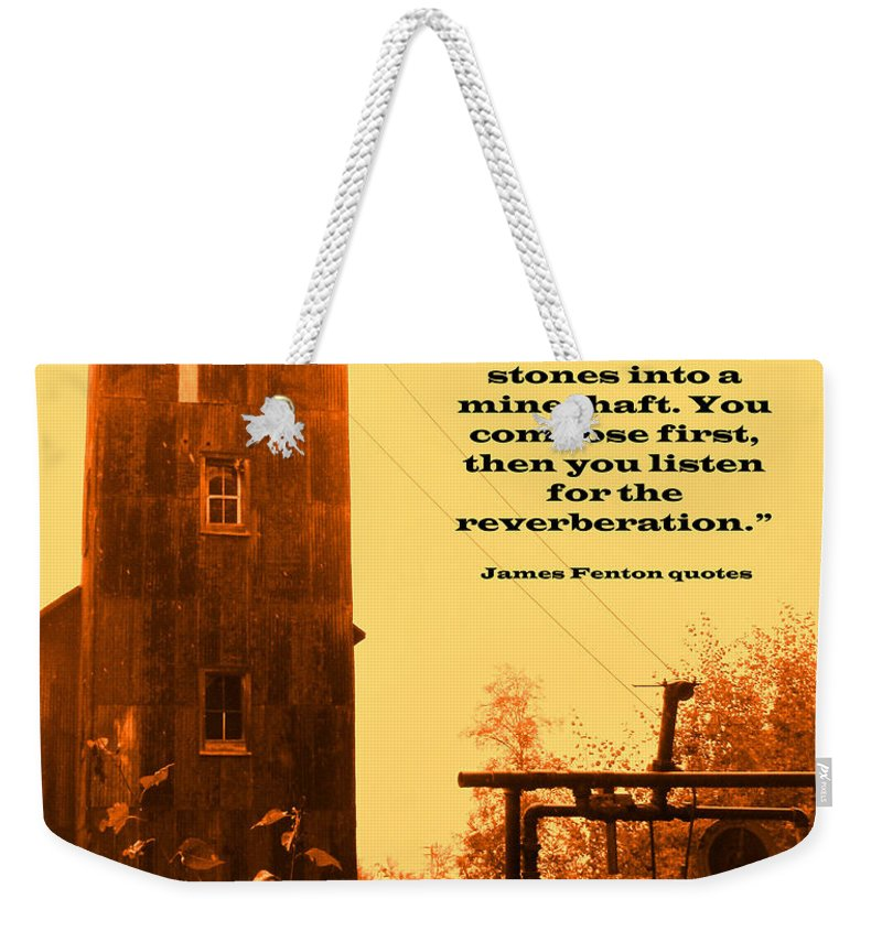 Mine Weekender Tote Bag featuring the photograph Throwing Stones by Ian MacDonald
