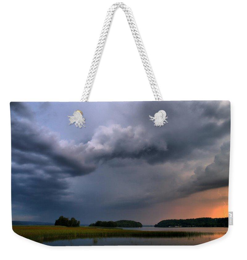 Lehtokukka Weekender Tote Bag featuring the photograph Thunder At Siuro by Jouko Lehto