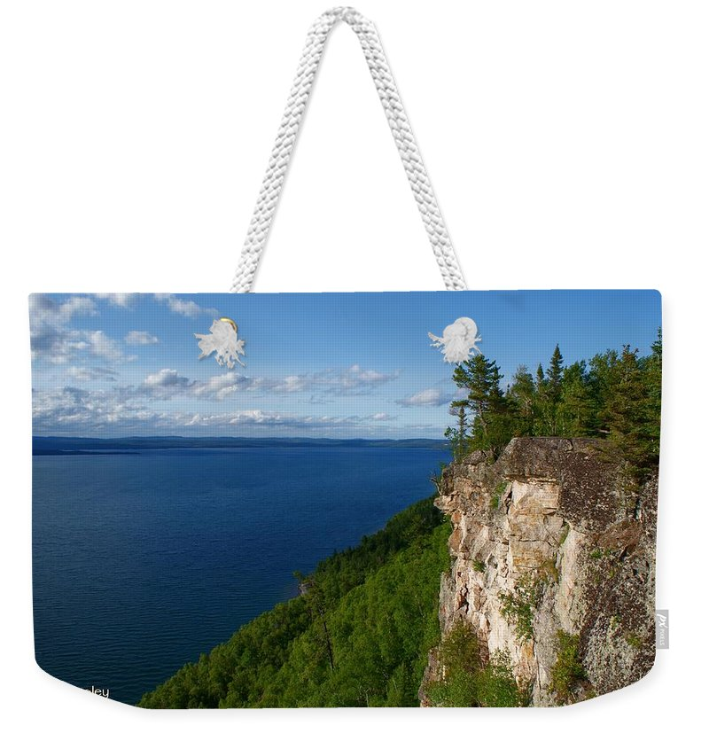 Thunder Bay Lookout Weekender Tote Bag featuring the photograph Thunder Bay Lookout by Joanne Smoley