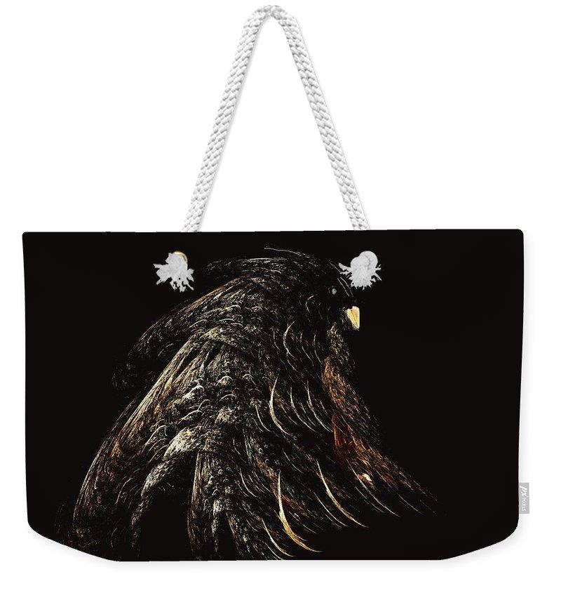 Abstract Digital Painting Weekender Tote Bag featuring the digital art Thunder Bird by David Lane