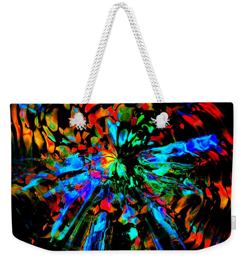 Rainbow Weekender Tote Bag featuring the photograph Thunder Through A Rainbow by Tim G Ross