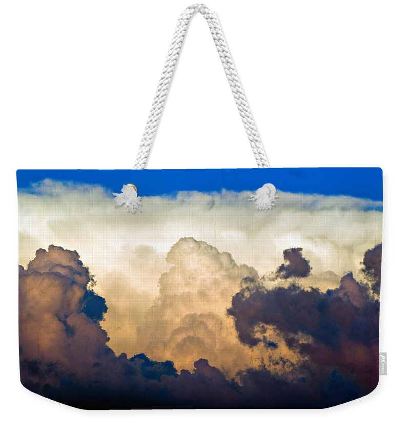 Thunderhead Weekender Tote Bag featuring the photograph Thunderhead Cloud Color Poster Print by James BO Insogna