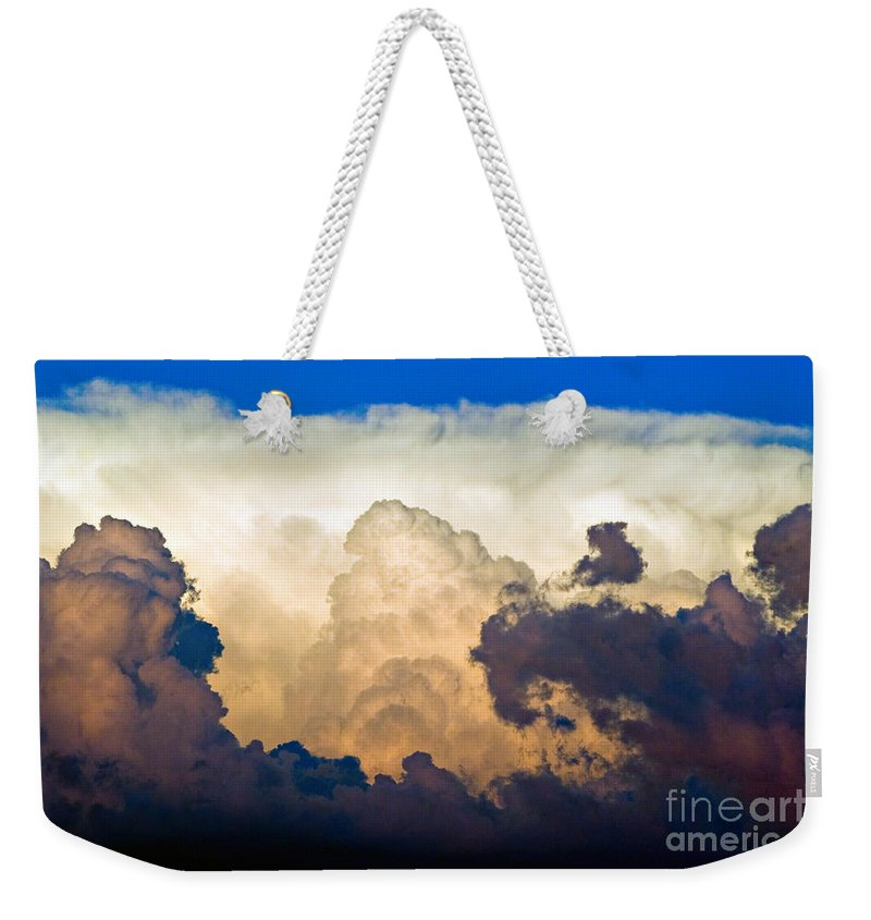 Thunderhead Weekender Tote Bag featuring the photograph Thunderhead Cloud by James BO Insogna