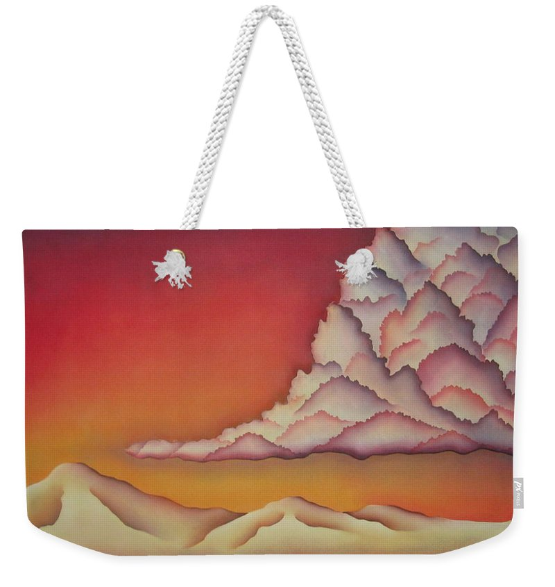 Landscape Weekender Tote Bag featuring the painting Thunderhead by Jeniffer Stapher-Thomas