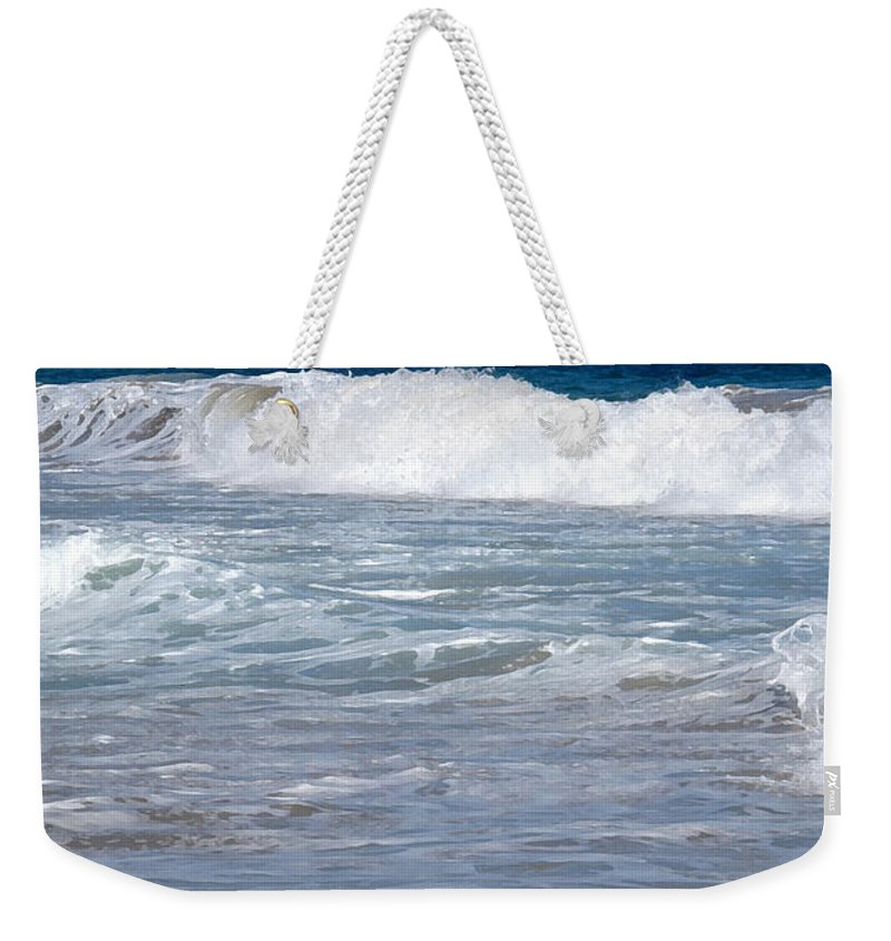 Wave Weekender Tote Bag featuring the photograph Thundering Roar by Ian MacDonald