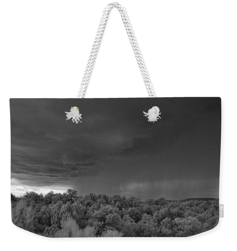 Storm Weekender Tote Bag featuring the photograph Thunderstorm Ir 0731 by Bob Neiman