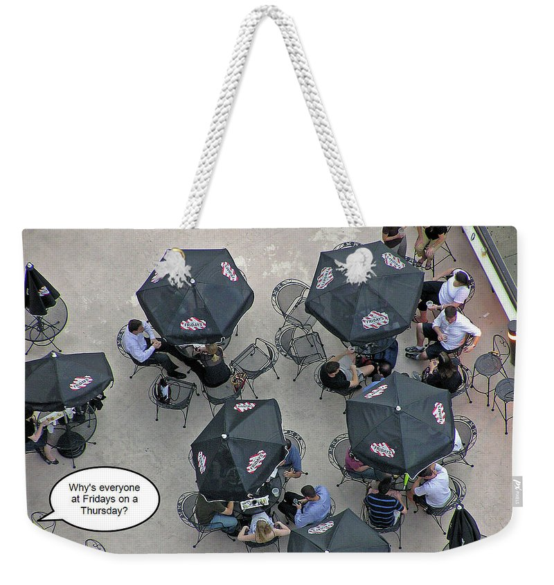 2d Weekender Tote Bag featuring the photograph Thursday by Brian Wallace