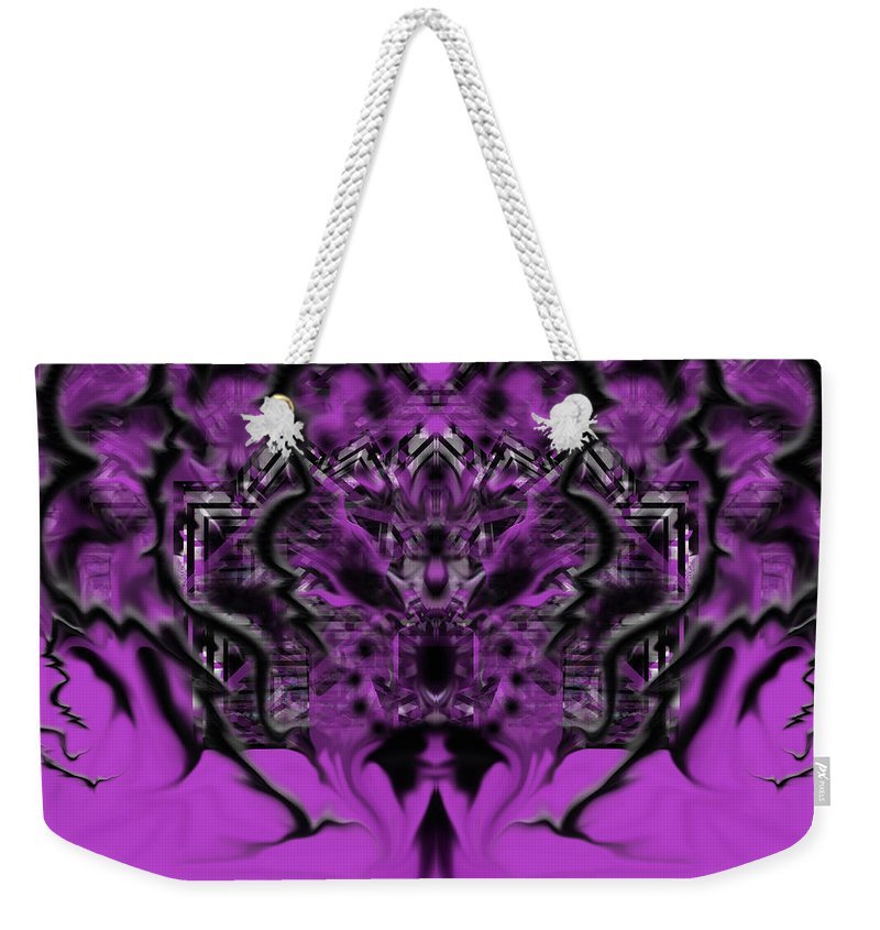Weekender Tote Bag featuring the digital art Thursday by Subbora Jackson