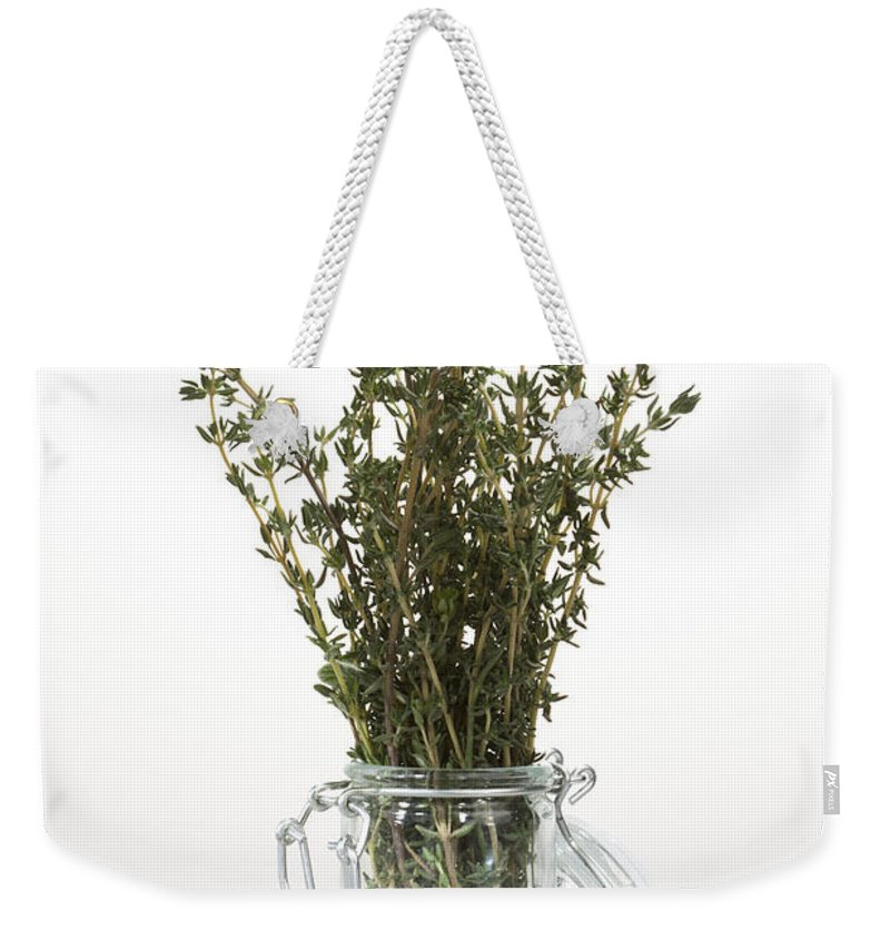 Thyme Weekender Tote Bag featuring the photograph Thyme by Wolfgang Steiner