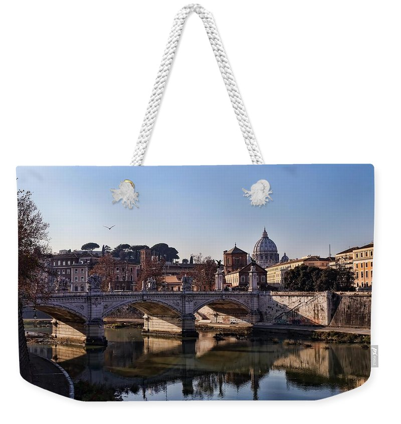 Tiber River Weekender Tote Bag featuring the photograph Tiber River by Lori Figueroa
