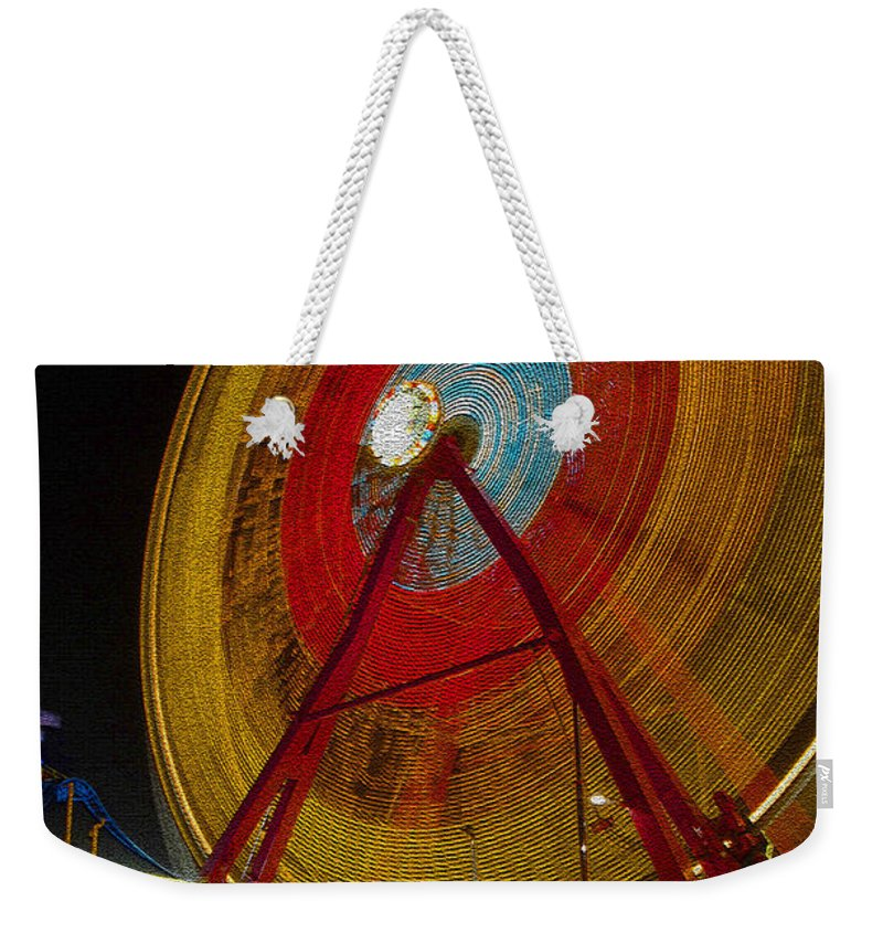 Amusement Ride Weekender Tote Bag featuring the photograph Tickets by David Lee Thompson