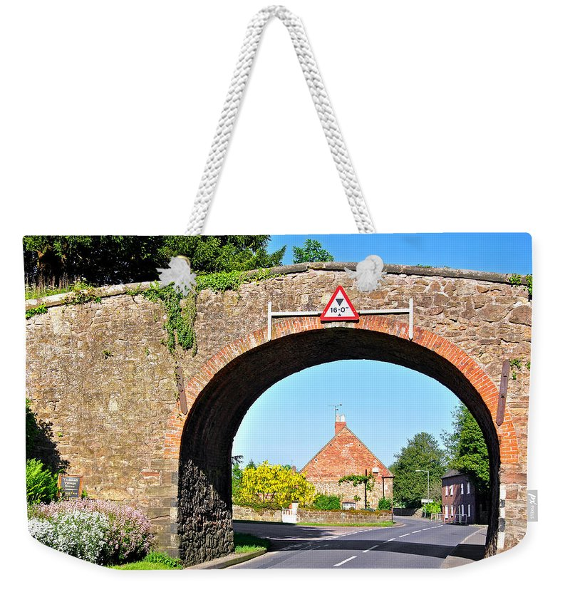 Stone Walls Weekender Tote Bag featuring the photograph Ticknall Tramway Bridge by Rod Johnson
