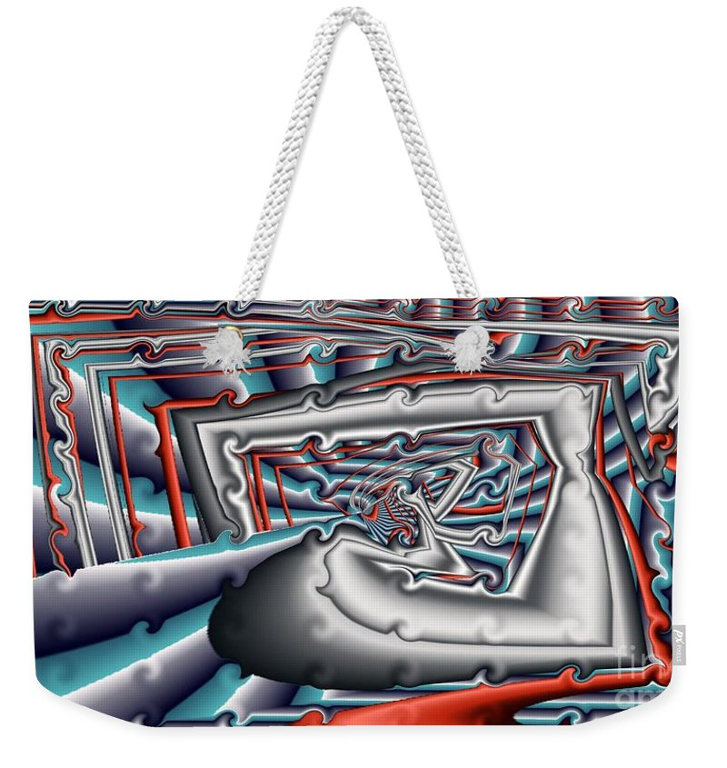 Abstract Weekender Tote Bag featuring the digital art Tidal Action by Ron Bissett
