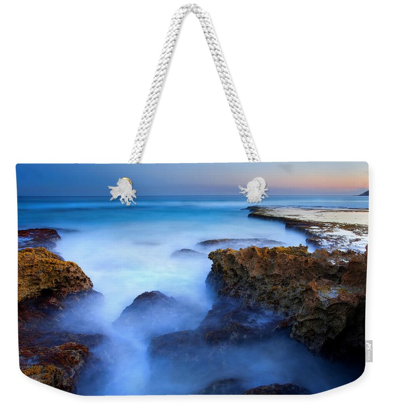 Pennington Bay Weekender Tote Bag featuring the photograph Tidal Bowl Boil by Mike Dawson