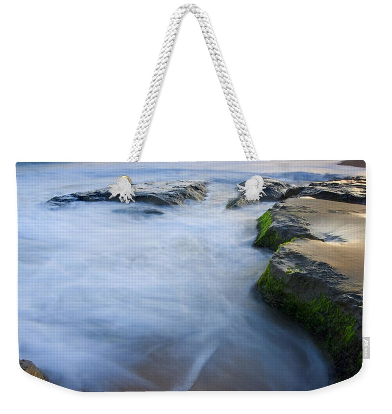 Beach Weekender Tote Bag featuring the photograph Tidal Bowl by Mike Dawson