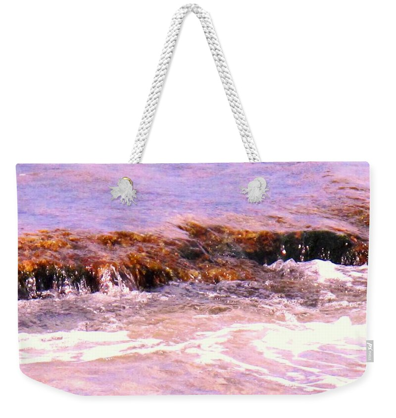 Tide Weekender Tote Bag featuring the photograph Tidal Pool by Ian MacDonald