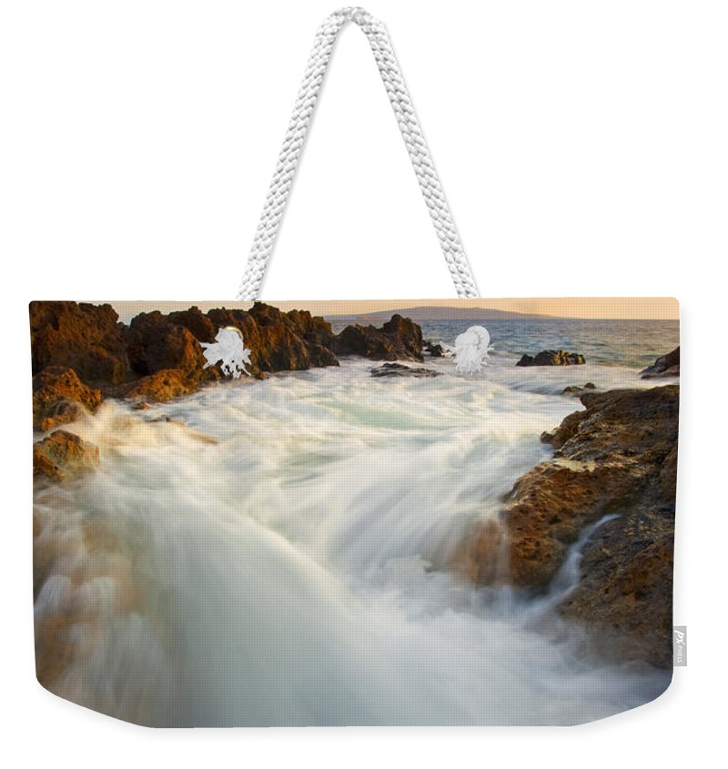 Surge Weekender Tote Bag featuring the photograph Tidal Surge by Mike Dawson