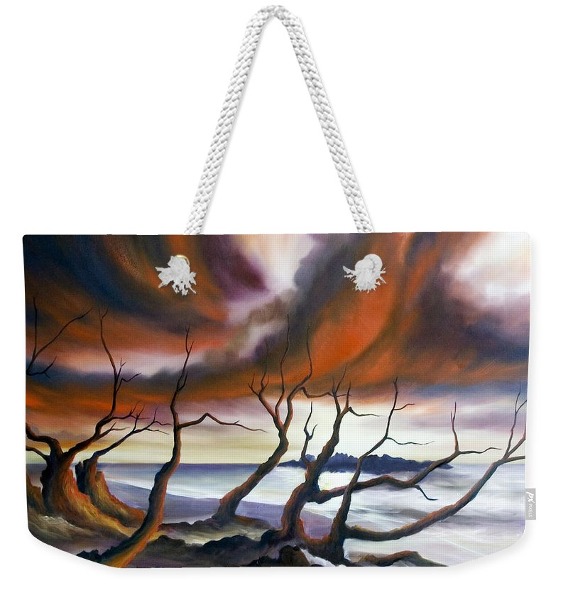 Marsh Weekender Tote Bag featuring the painting Tideland by James Christopher Hill