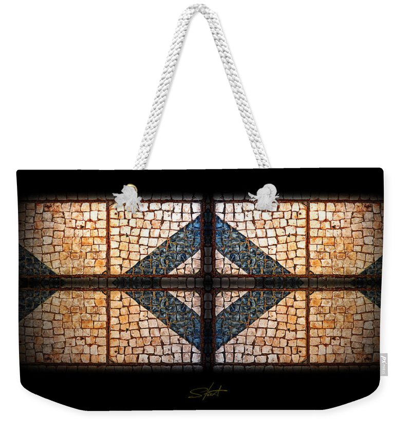 Tifany Weekender Tote Bag featuring the photograph Tiffany Sidewalk by Charles Stuart