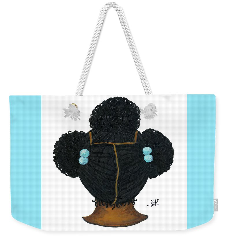 Children Art Weekender Tote Bag featuring the painting Tiffany by Sonja Griffin Evans