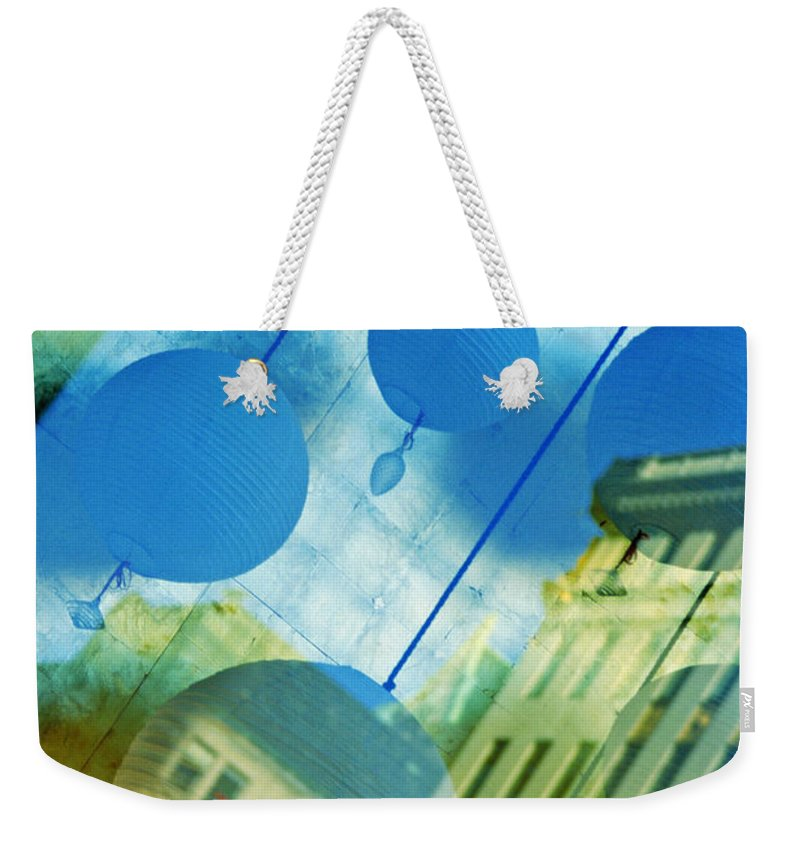 New York Weekender Tote Bag featuring the photograph Tiffanys by Skip Hunt