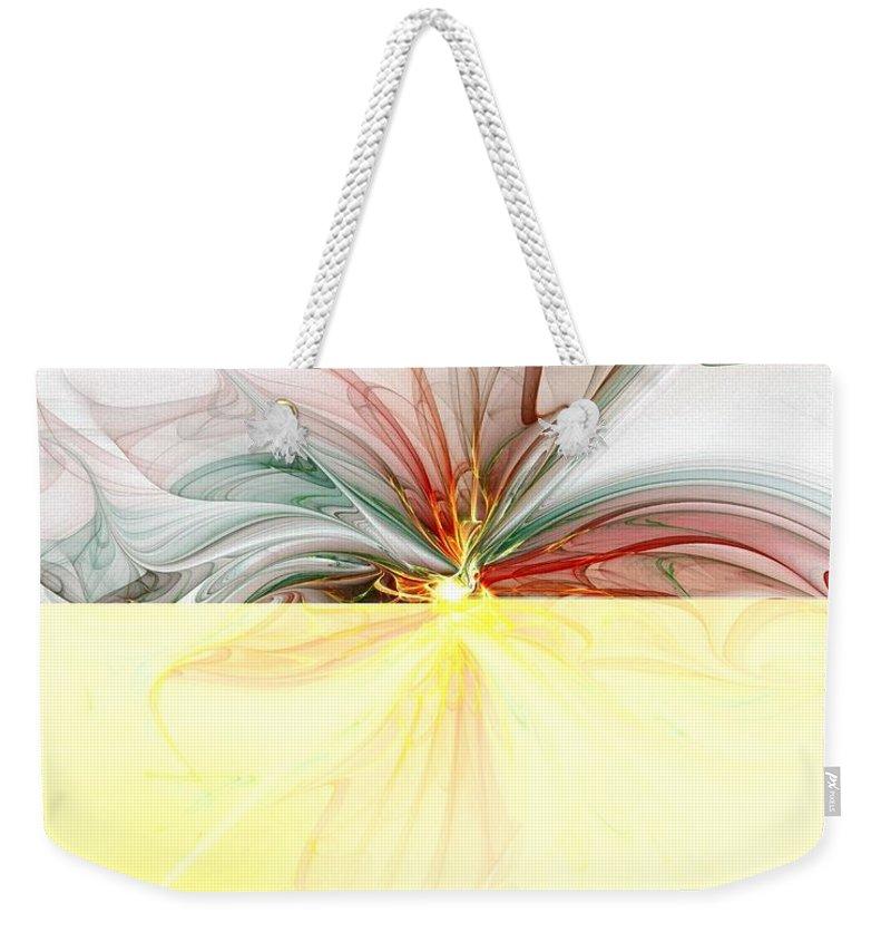 Digital Art Weekender Tote Bag featuring the digital art Tiger Lily by Amanda Moore