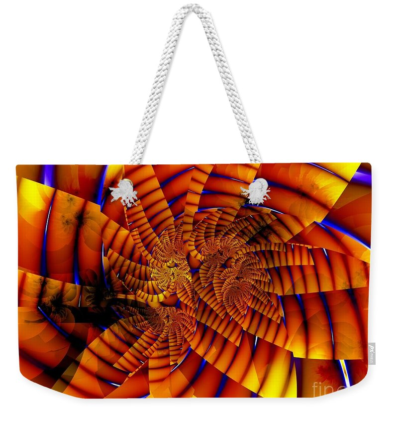 Flower Weekender Tote Bag featuring the digital art Tiger Lily by Ron Bissett