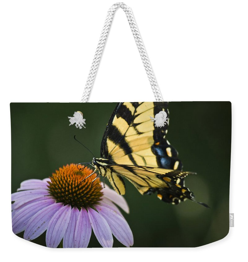 Garden Weekender Tote Bag featuring the photograph Tiger Swallowtail 2 by Teresa Mucha