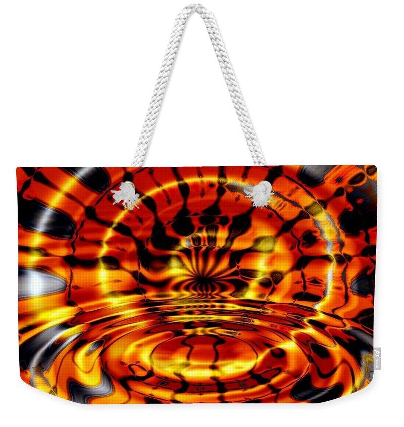 Fractal Weekender Tote Bag featuring the digital art Tiger's Eye by Robert Orinski