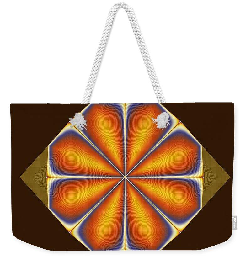 Fractal Weekender Tote Bag featuring the digital art Tile by Richard Ortolano