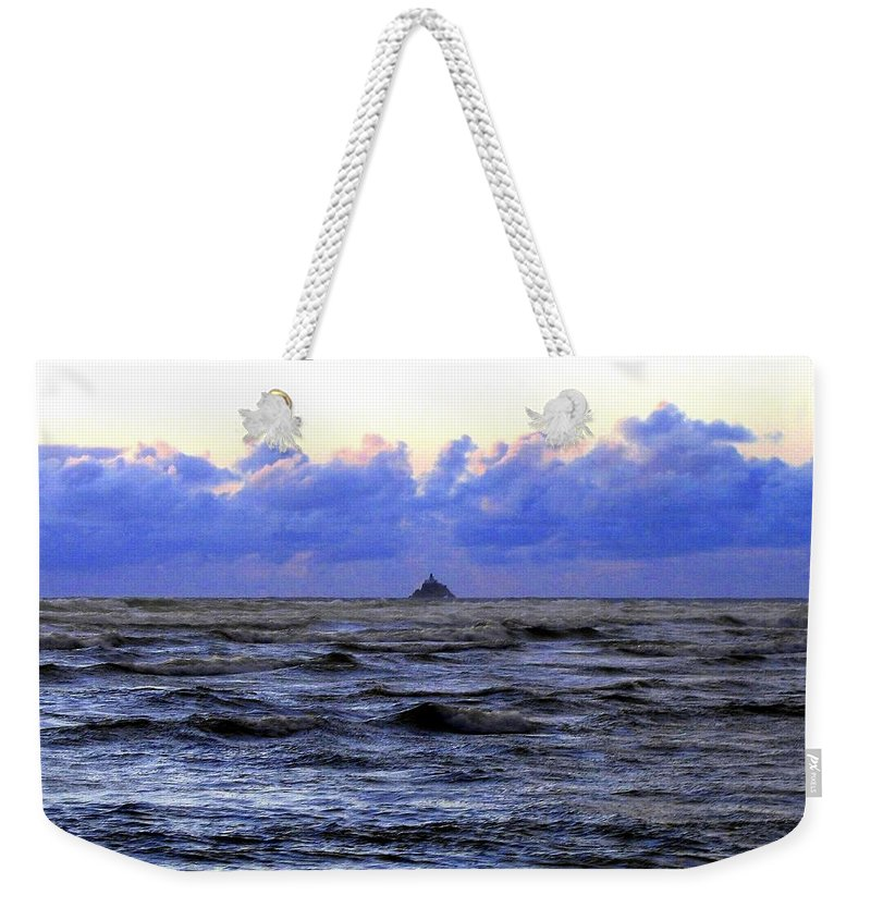Lighthouse Weekender Tote Bag featuring the photograph Tillamook Rock Lighthouse by Will Borden