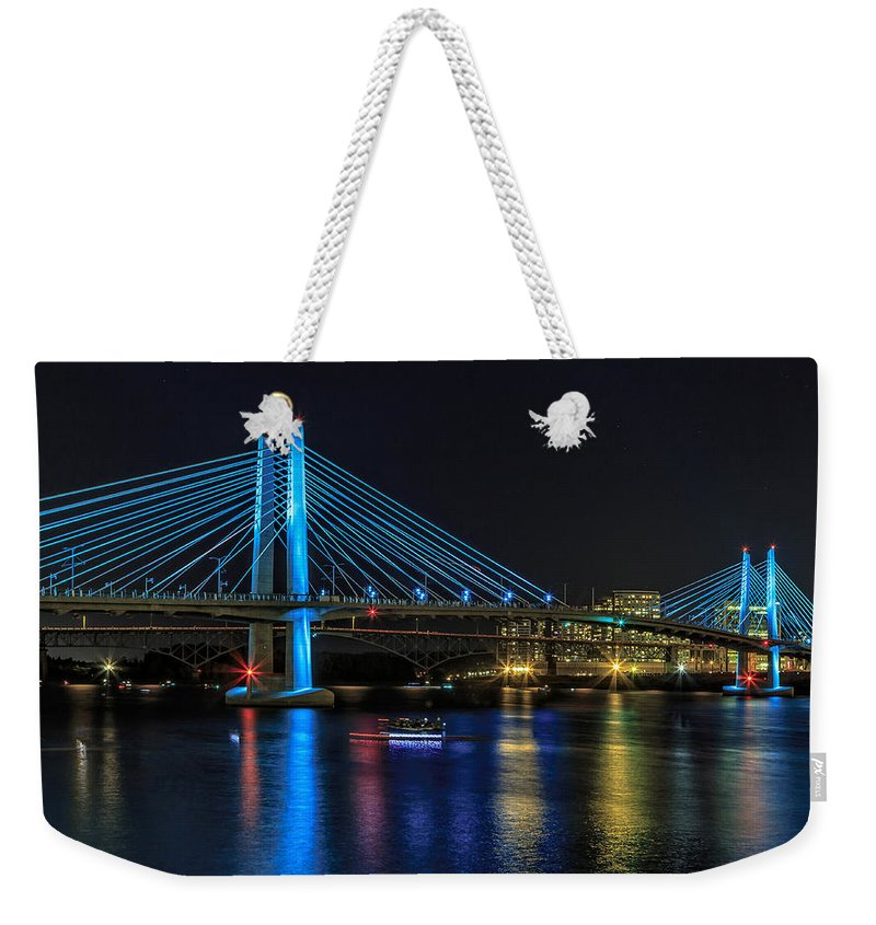 Tilikum Crossing Weekender Tote Bag featuring the photograph Tilikum Crossing by Wes and Dotty Weber