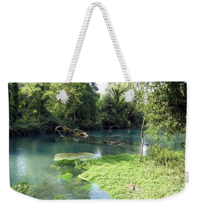 River Weekender Tote Bag featuring the photograph Timava's Spring II by Dragica Micki Fortuna