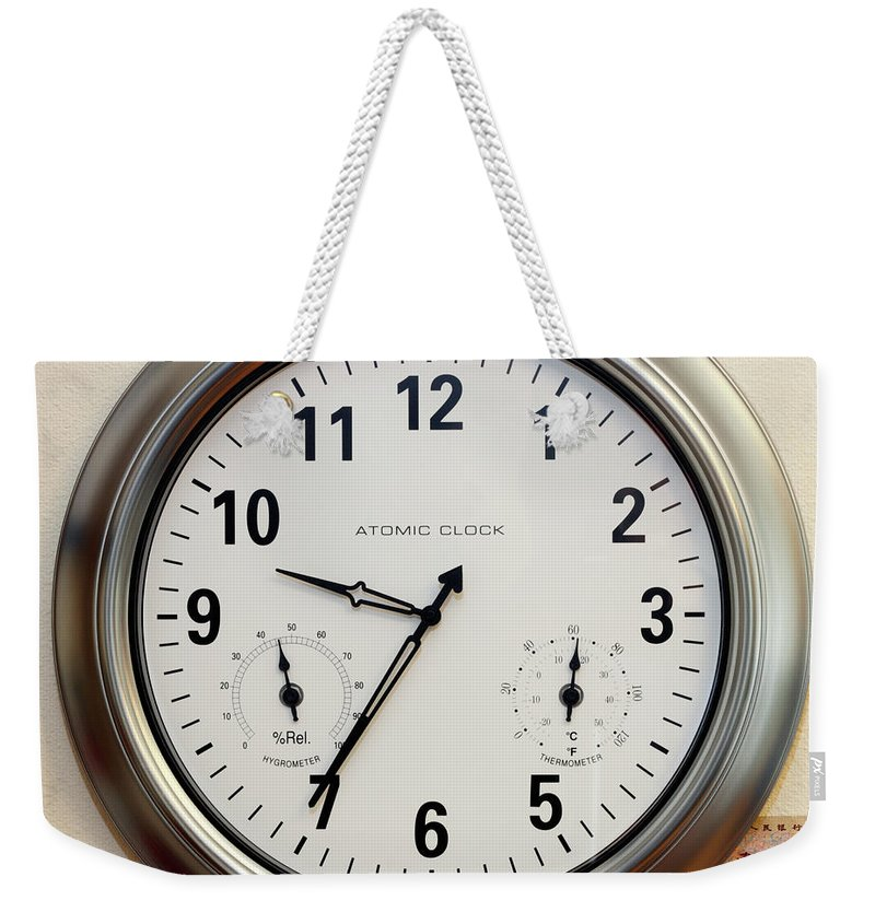 Time Weekender Tote Bag featuring the photograph Time And Money by Lee Serenethos