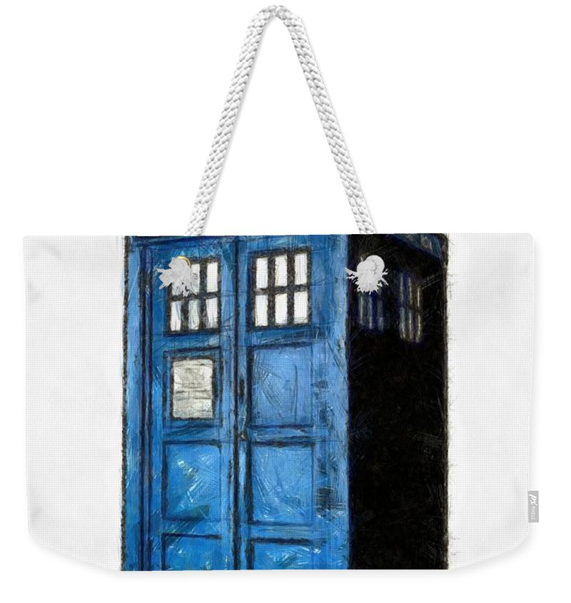Tardis Weekender Tote Bag featuring the digital art Time And Relative Dimension In Space by Edward Fielding