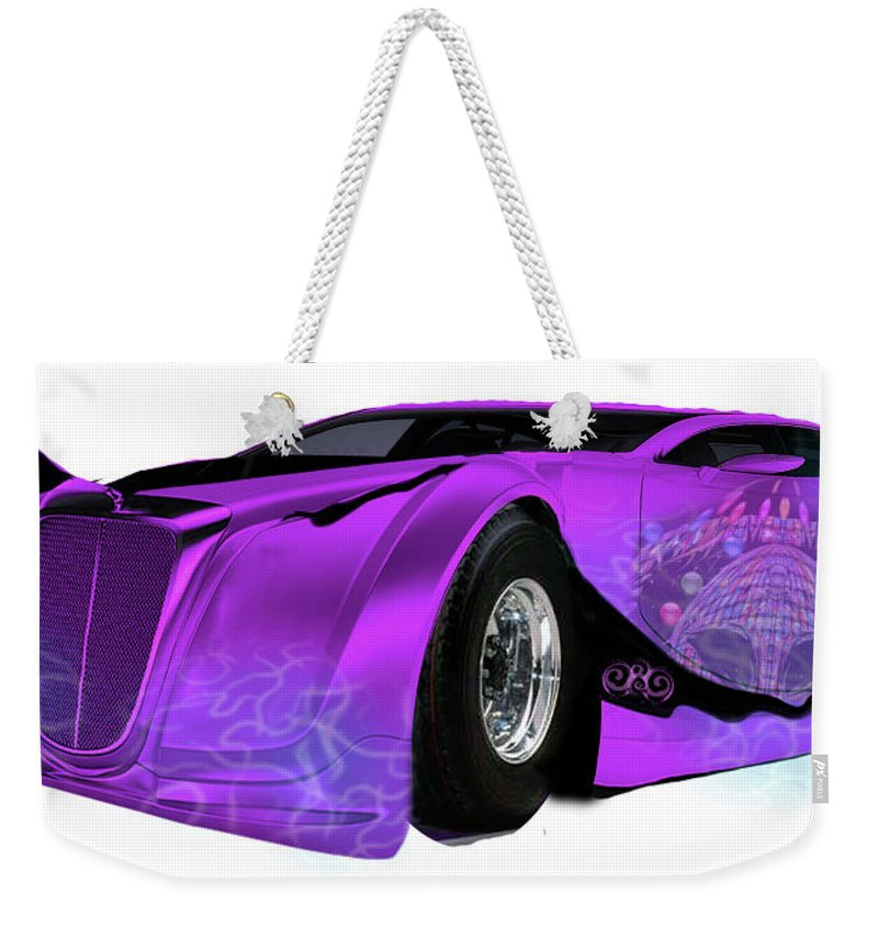 Weekender Tote Bag featuring the digital art Time Machine by Subbora Jackson