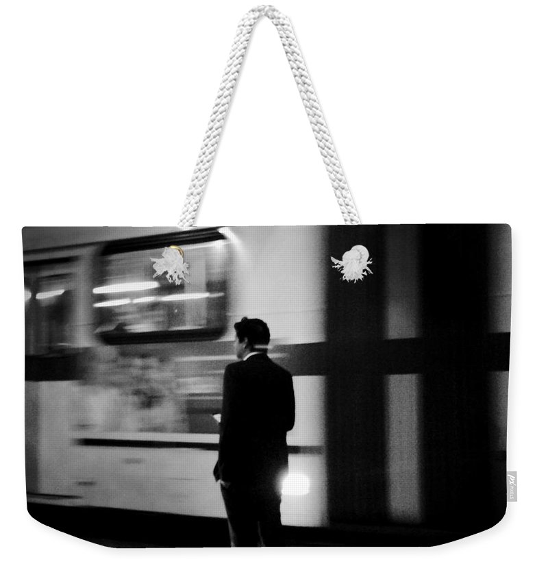 Trains Weekender Tote Bag featuring the photograph Time Passages by Miriam Danar