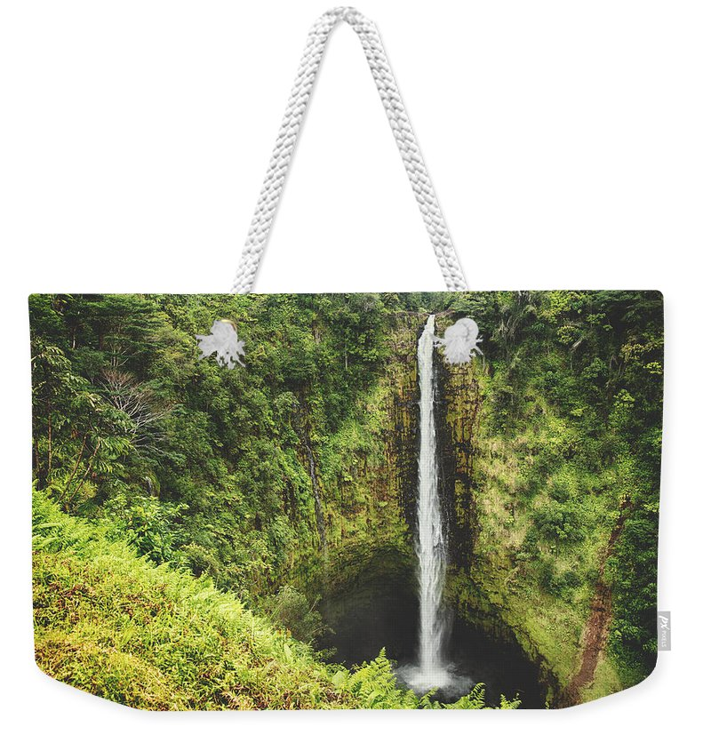 Akaka Falls Weekender Tote Bag featuring the photograph Time Stands Still by Laurie Search