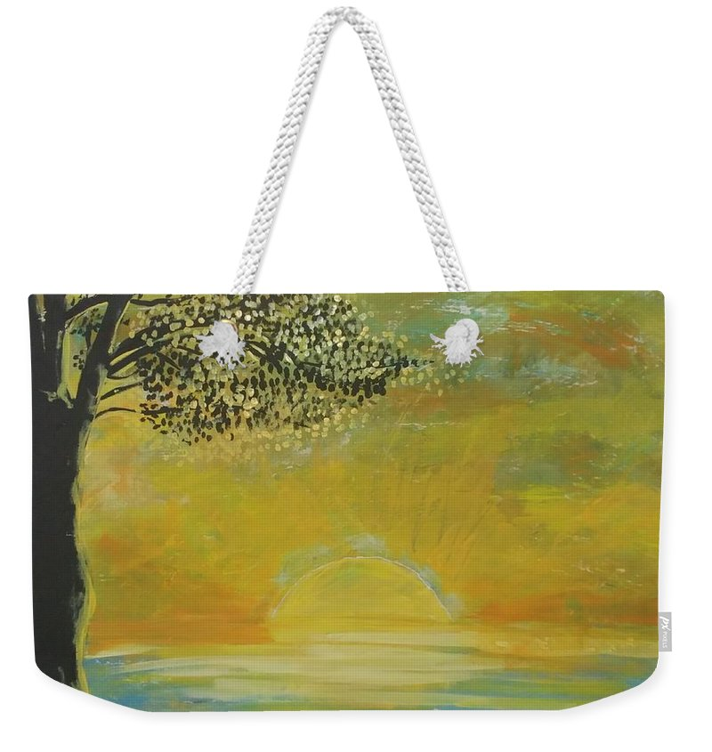 Sun Set Weekender Tote Bag featuring the painting Time to go in by J Bauer