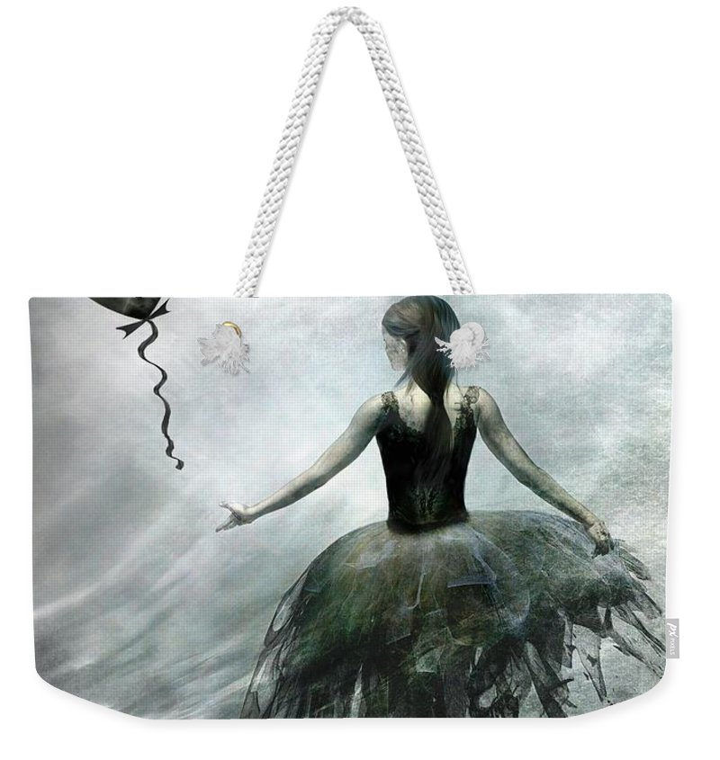 Ballet Weekender Tote Bag featuring the painting Time To Let Go by Jacky Gerritsen