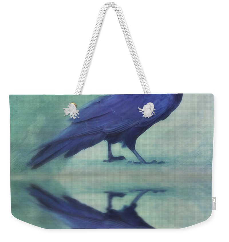 Raven Weekender Tote Bag featuring the photograph Time To Reflect by Priska Wettstein