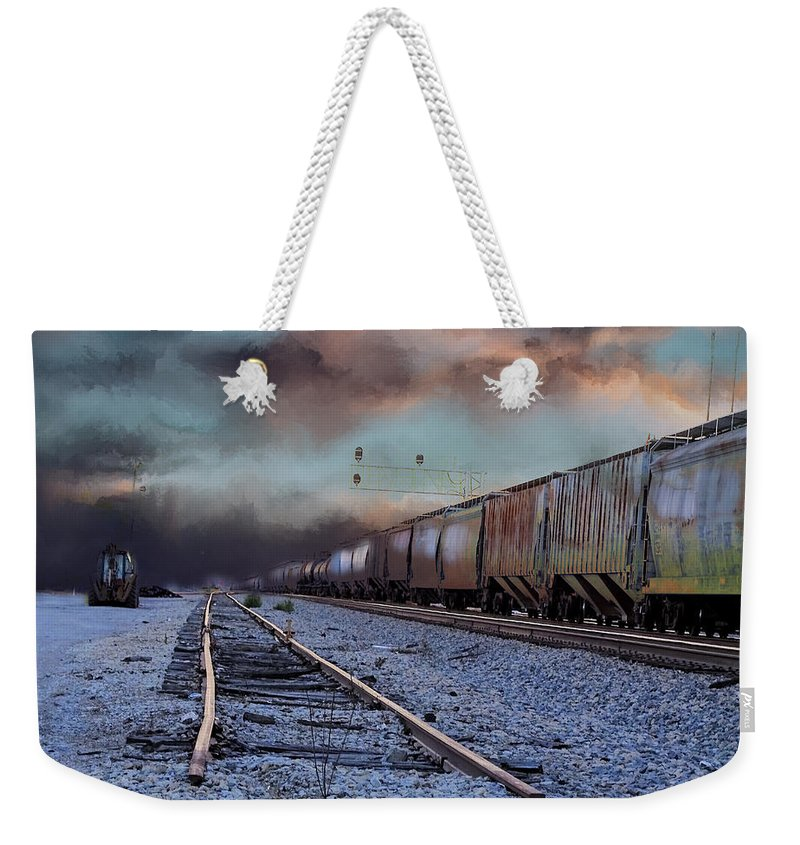 Theresa Campbell Weekender Tote Bag featuring the photograph Time Travel by Theresa Campbell