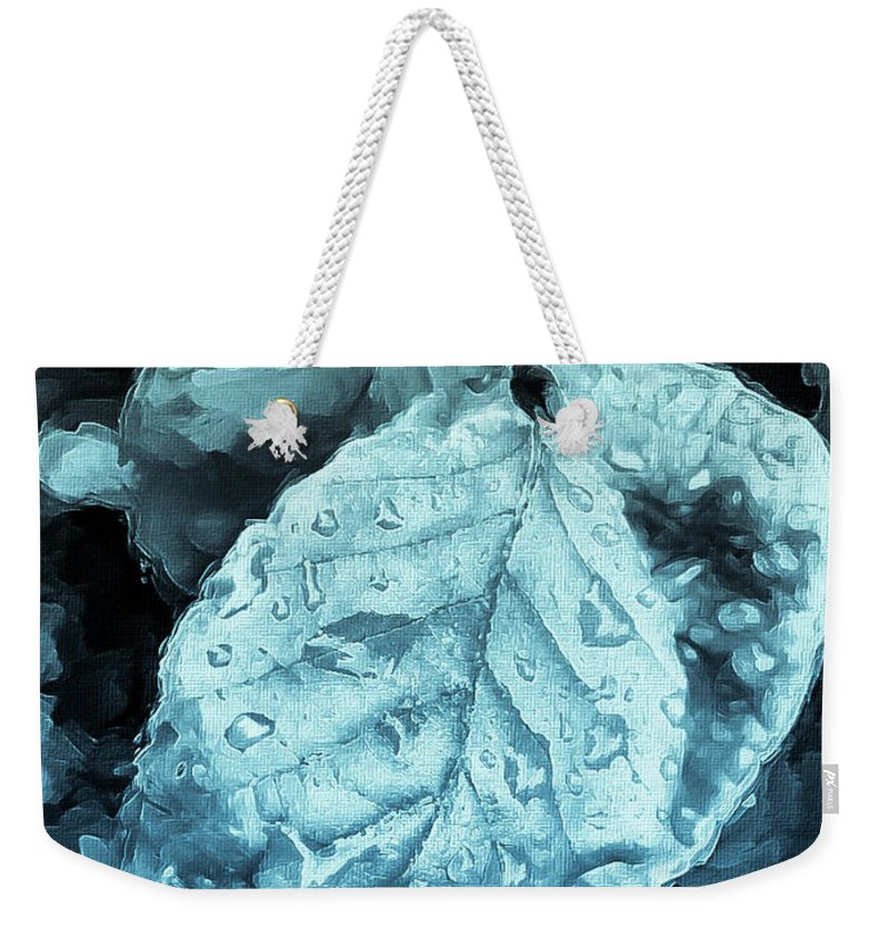Mona Stut Weekender Tote Bag featuring the mixed media Time Travel Winter Leaves by Mona Stut